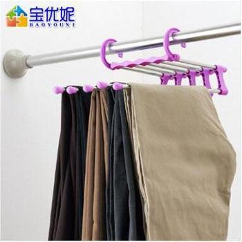 宝优妮 DQ0825-1魔术裤架 201不锈钢管多层裤子挂衣架