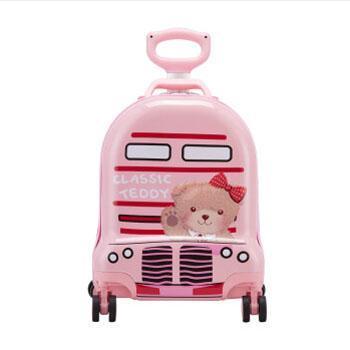 外交官 TT-1709 精典泰迪 时尚可爱 儿童休闲拉杆箱 粉红色