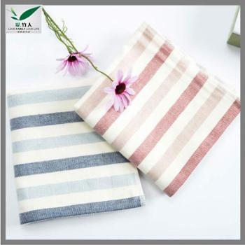 爱竹人 爱竹人单条细纹纱布巾(磨砂袋)34cm×76cm 110g