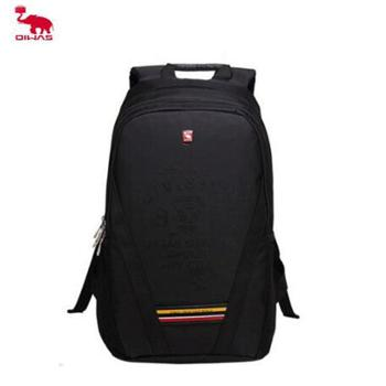 爱华仕大容量学生双肩书包 黑色/粉色 OCB2894