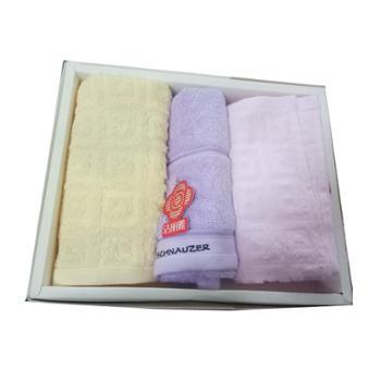 洁丽雅纯棉亲子三件套礼盒毛巾414151