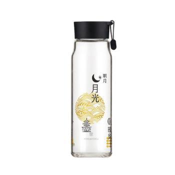 乐扣乐扣 耐热玻璃水杯中国风印花杯子 530ML LLG683
