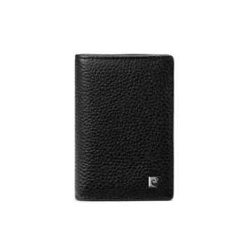 皮尔卡丹 牛头层皮革男式名片包 黑色 JR9P515028-55A