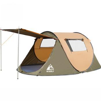 公狼户外全自动防风野外速开大帐篷1766