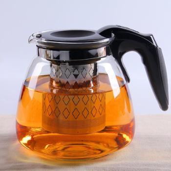 陶立方加厚耐热玻璃茶壶花茶红茶冲泡茶器不锈钢过滤大容量家用水壶养生壶TF-5869-1