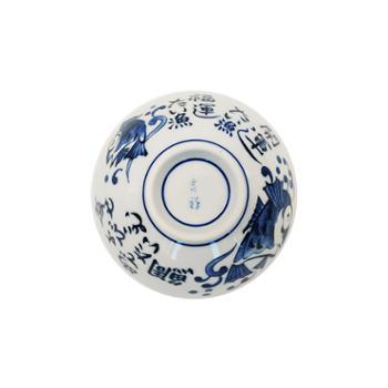 小物家园日本进口釉下彩青花图案小碗单个