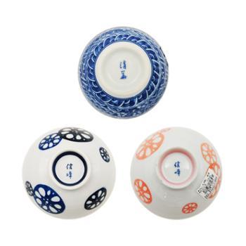 小物家园日本进口小碗藕片花纹单个
