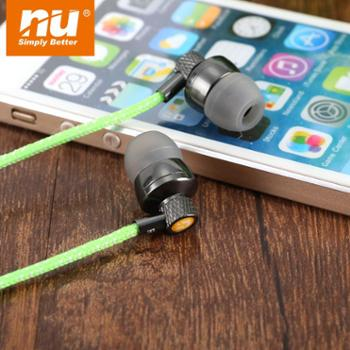 NU彩色织布防水运动耳机游泳跑步防汗入耳式挂耳式耳机通用