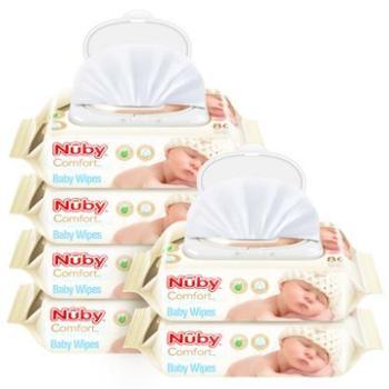 Nuby 努比 婴儿柔肤湿巾80抽*6包 超值6包装