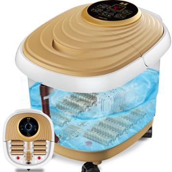 朗康加热按摩熏蒸全自助滚轮足浴盆LK-8106按摩足浴器