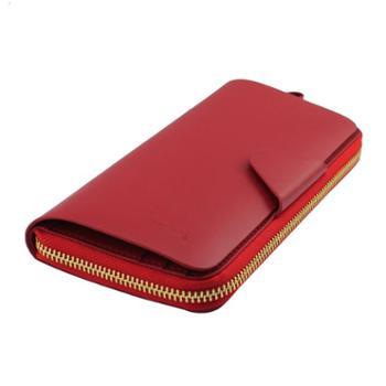 尼诺里拉NINORIVA红色NINORIVA长款单拉炼钱夹NR600561