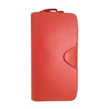 尼诺里拉NINORIVA红色女士牛皮革双拉链包NR60056-2