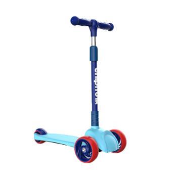 优贝旗下儿童滑板车2-3-4-6岁宝宝小孩溜溜车滑滑车发光轮折叠
