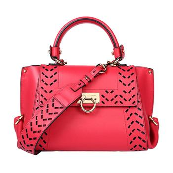 Ferragamo菲拉格慕女式红色牛皮手提单肩两用包21G341660394