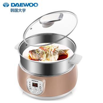 韩国大宇DAEWOO 304不锈钢蒸/煮多用锅 电火锅