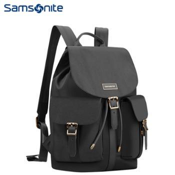新秀丽(Samsonite)都市时尚多袋扣双肩包电脑包