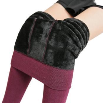 sobo女士打底裤七彩棉加绒加厚踩脚保暖裤S142