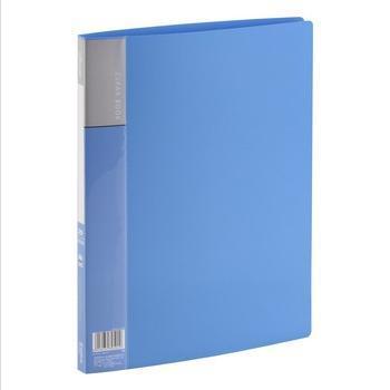 齐心(COMIX)PF20AK 资料册 A4 20袋 蓝色