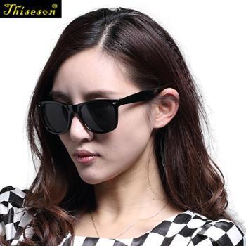 砾石(Thiseson)男女情侣通用时尚太阳镜 明星同款时尚墨镜蛤蟆
