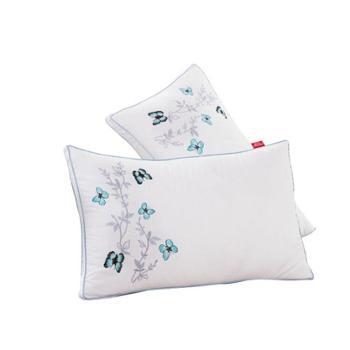 英国雅迪娜家纺全棉蝴蝶花羽丝枕(一只装)45*72喜莱雅