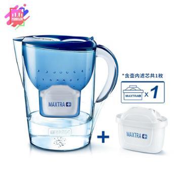 碧然德(BRITA)家用滤水壶3.5L过滤净水器1壶1芯净水壶滤芯金典Marella套装蓝色