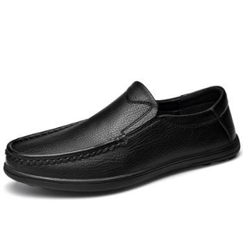 耶斯爱度皮鞋男套脚耐磨男鞋