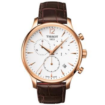 天梭TISSOTTRADITION系列石英男表T063.617.36.037.00瑞士手表进口腕表