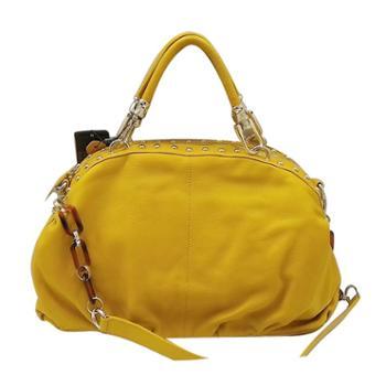尼诺里拉NINORIVA 黃色简约时尚单肩手提斜跨大包NR90314-1