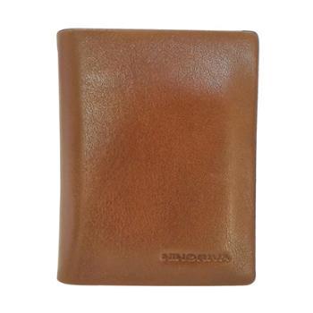 尼诺里拉NINORIVA 咖色 男士牛皮革豎款短款钱夹NR60272-2