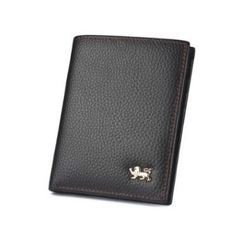 NINORIVA尼诺里拉 棕色 短竖款牛皮革男士钱夹 NR60346-2