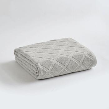 三利欧花菱格纯棉毛巾被两条混色特惠装50513-2