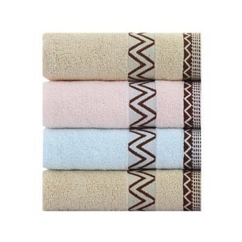 三利波西米亚纯棉面巾4条装9262-4