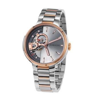 ROSSINI罗西尼自动机械精钢防水商务简约腕表手表间金钢带男表5835