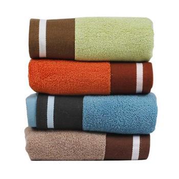 三利加州风情面巾4条混色装(绿 橙 蓝 咖各一条)