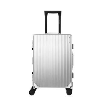 尼诺里拉 银色成型铝镁合金旅行箱拉杆行李NRB-18012-20寸
