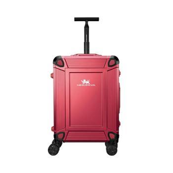 尼诺里拉红色枪色一体成型铝镁合金旅行箱拉杆行李NRB-18022-20寸红色