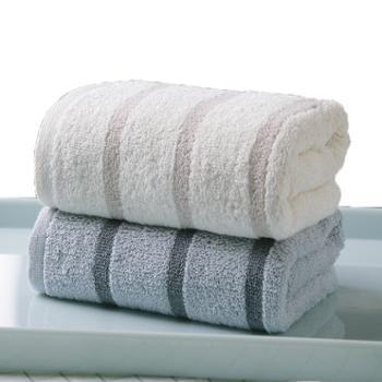 金号方格毛巾两条装纯棉提缎GA1058