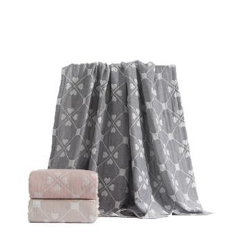 三利露花倒影纯棉毛巾被150*200cm700g