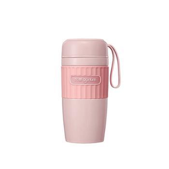 东菱迷你豆浆机便携轻食杯免滤小型豆浆机薄暮粉DL-8700