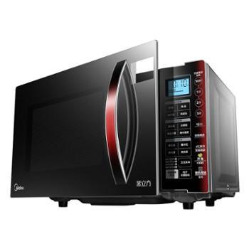 美的微波炉蒸烤箱一体家用智能变频蒸立方平板式光波EV923MF7-NRH
