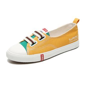 乔驰帆布鞋女学生韩版百搭原宿ulzzang小白板鞋