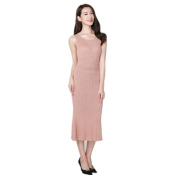 戎立特女士时尚圆领两件套GDY1031