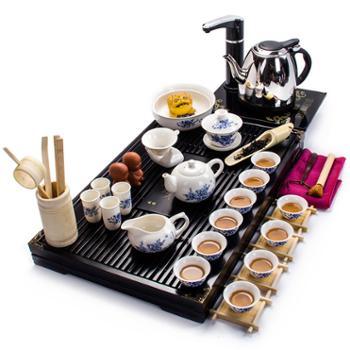谁美功夫茶具套装陶瓷茶壶茶盘二合一电磁炉商务礼品整套