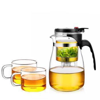 谁美飘逸杯泡茶壶耐热玻璃简易茶具过滤茶水分离杯子泡茶器玲珑杯yj