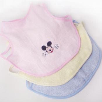 乐竹家纺宝宝饭兜婴儿围嘴毛巾围嘴婴儿口水巾单件装