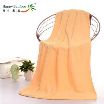 纯色款珊瑚绒浴巾
