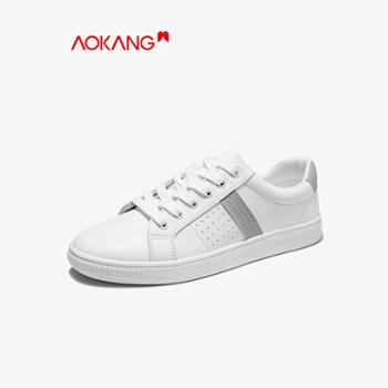 奥康男鞋2020春季新款白色休闲鞋韩版男潮鞋