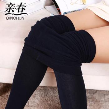 【亲春】新款加绒保暖拉绒裤踩脚打底裤【千盛百货】B006