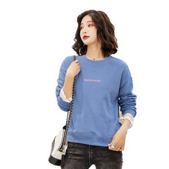 gangsta圆领套头针织卫衣韩版宽松显瘦打底衫长袖T恤A352-0223