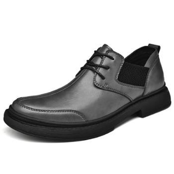 上匠风华 秋冬款二层牛皮橡胶底手工缝线男鞋21619
